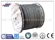 China 6-48mm Ungalvanized Steel Wire Rope For Elevator / Belt Conveyer 6x26SW+FC factory