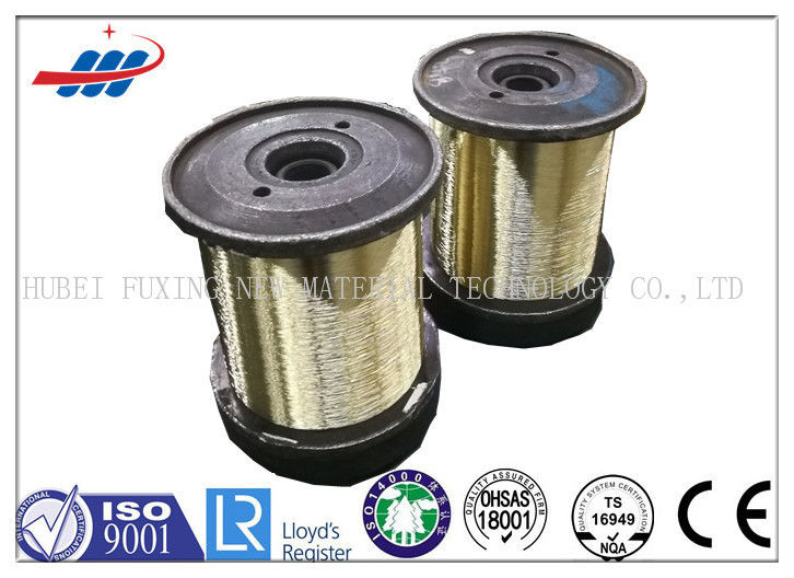 Gold Color Brass Coated Wire 0.25MM 2800MPA High Puncture Resistance