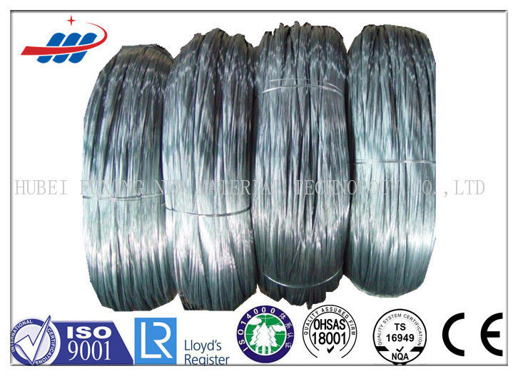 Silver Color High Tensile Galvanized Steel Wire 1570 Mpa - 1960 Mpa Strength