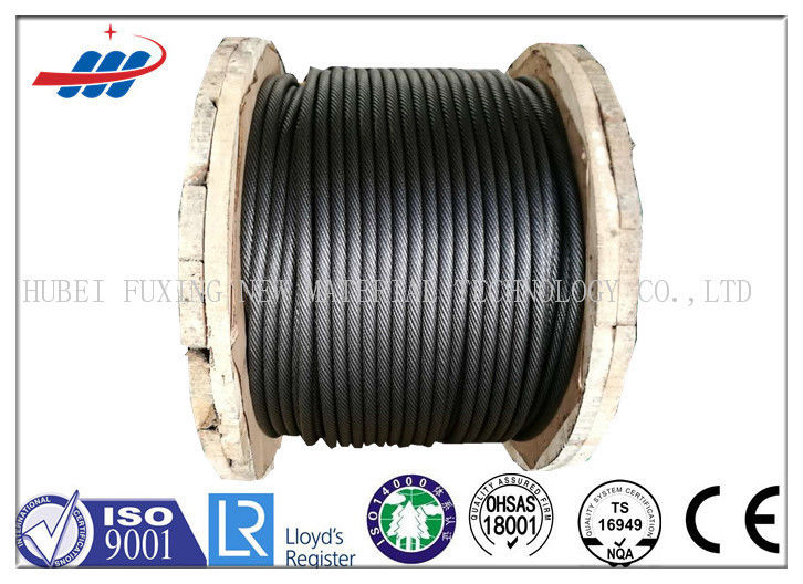 6-48mm Ungalvanized Steel Rope Cable ZS / SZ Lay For Building , CE ISO Approved