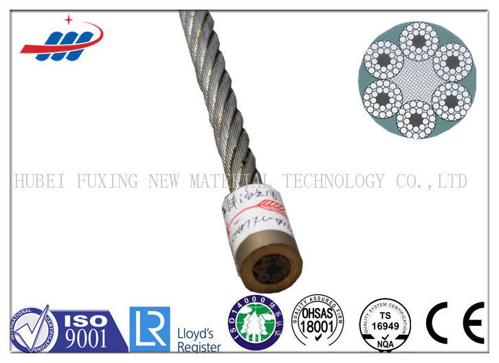 Professional Strengthened Crane Wire Rope 6x24+7FC For Tugboat / Floating
