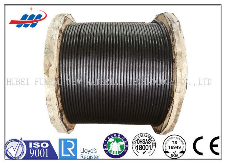 Steel Elevator Wire Rope 8x19 Seale Type For Lifting , Black Color