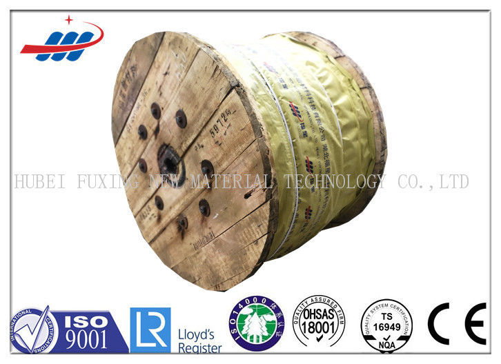 Uncoated Fiber Core Wire Rope For Hoisting , Elevator Electrical Cable
