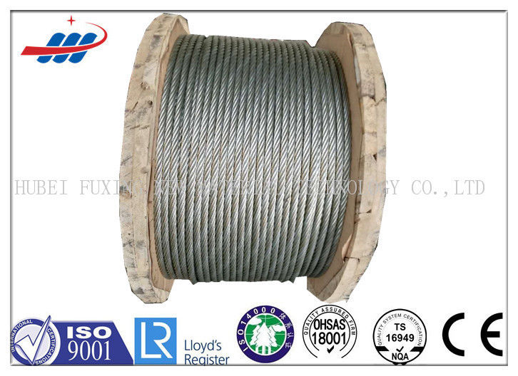 Strong Galvanized Steel Wire Rope , Aircraft Grade Wire Rope Anti Rotation For Heavy Machinery