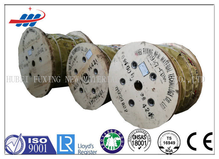 Uncoated High Carbon Steel Rope Cable 36x7+IWS For Loading / Unloading