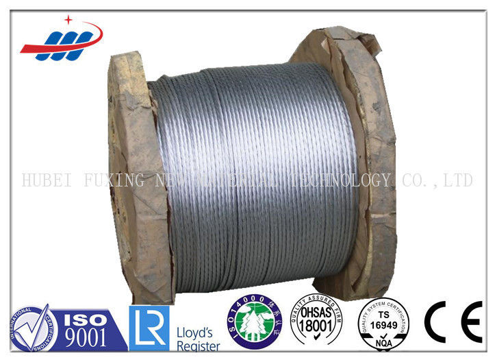1.5-9MM Galvanized Steel Strand , Prestressed Concrete 7 Wire Strand