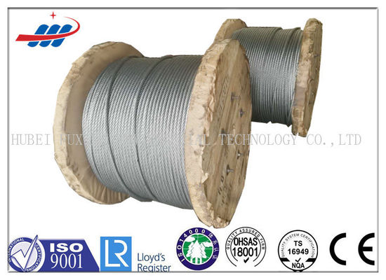 6x26SW+FC No Oil Hot Dipped Galvanized Steel Wire Rope For Lifting / Tower Crane