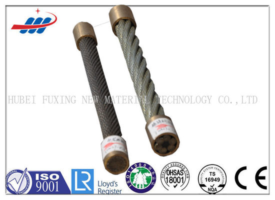 1570-1960MPA Binding Wire Rope 6x12+7FC For Hoist / Loading , CE OHSAS Listed